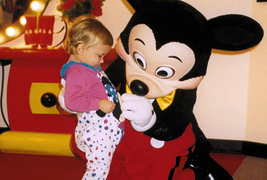Childhood Picture of Stephanie Styles with Mickey Mouse