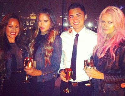 Darren Barnet Sipping Alcohol with his Friends
