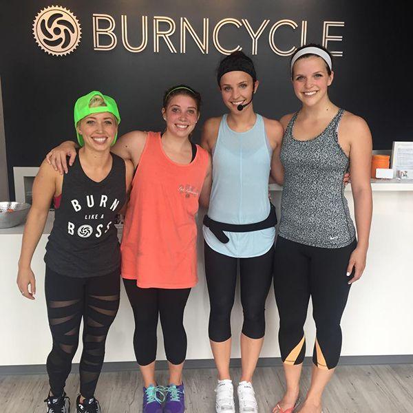 Elle as a Spin Instructor at BurnCycle