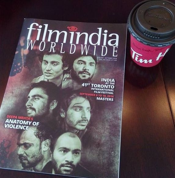 Jagjeet Sandhu on the cover of the FilmIndia Magazine