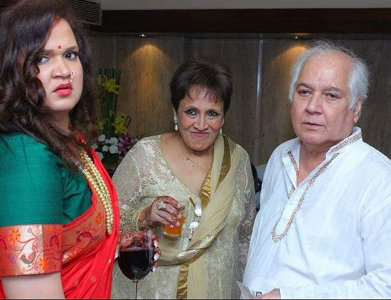 Karishma Chavan with Her Parents