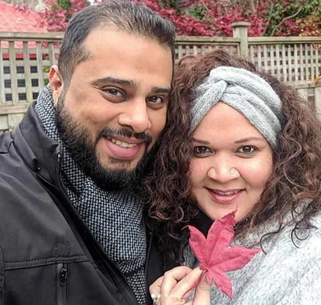 Karishma Chavan with her Husband