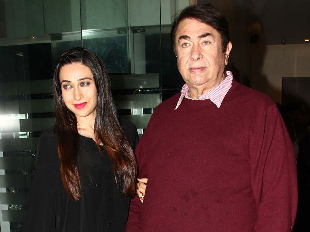 Karishma Kapoor with her father