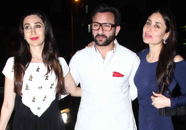 Karishma Kapoor with her sister and brother-in-law