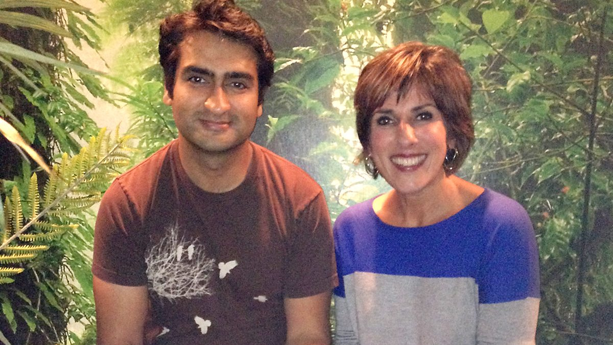 Kumail Nanjiani with his cousin Shereen Nanjiani