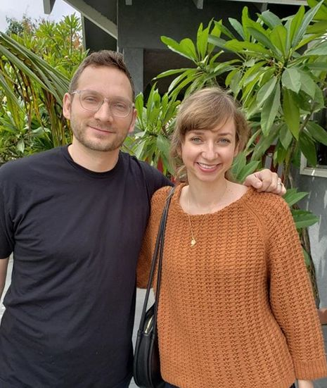 Lauren Lapkus with her brother