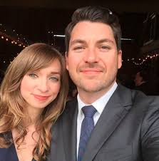 Lauren Lapkus with her ex-husband, Chris Alvarado