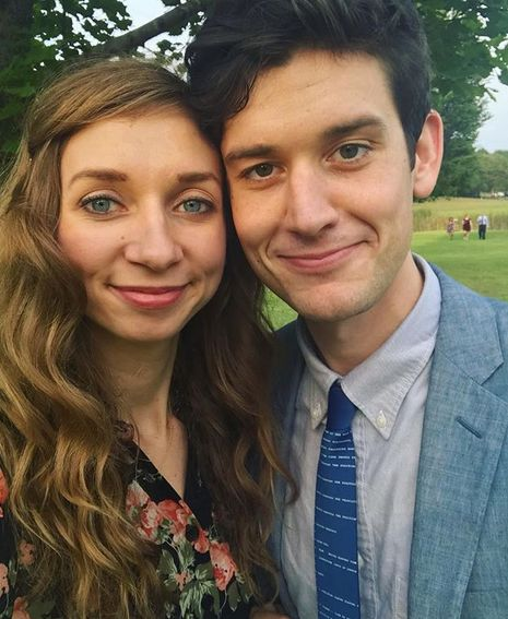 Lauren Lapkus with her husband, Mike Castle