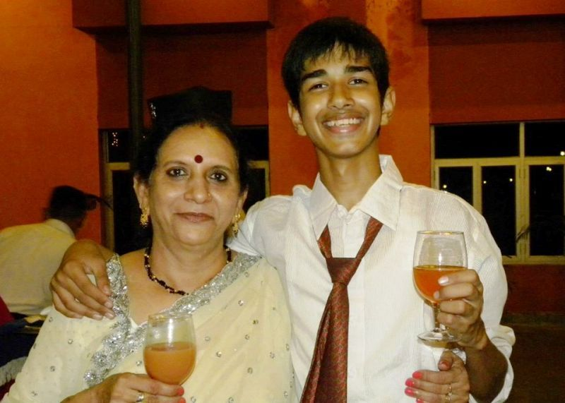 Mamta Kale's Mother and Son