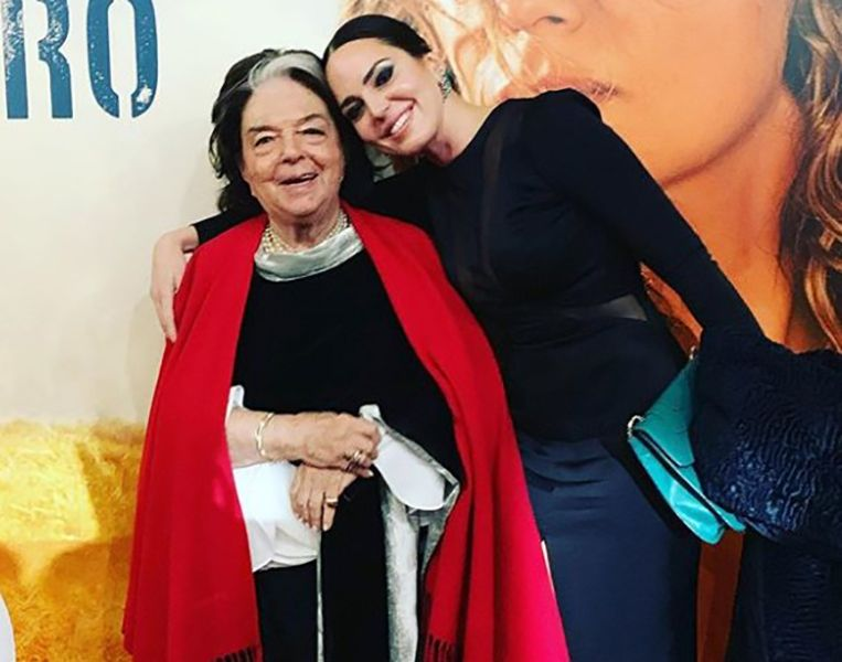 Marta Milans with her Grandmother
