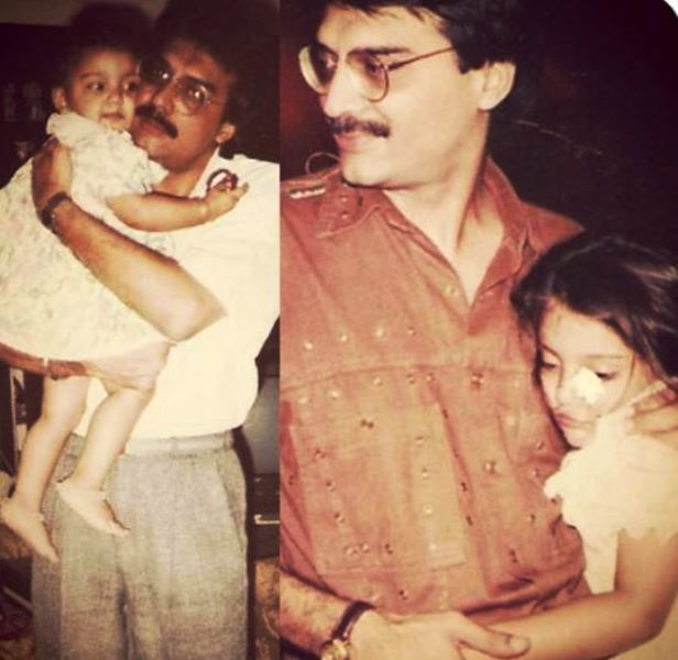 Miheeka Bajaj's Childhood Picture With Her Father