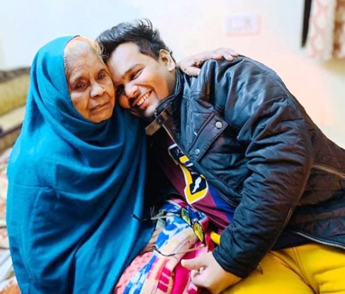 Mohit Baghel With His Maternal Grandmother