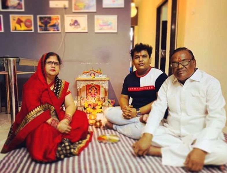 Mohit Baghel and His Parents