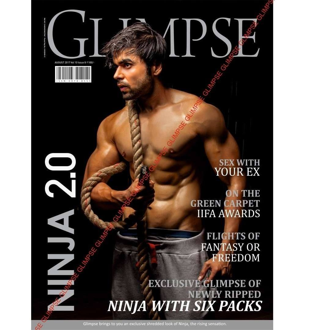 Ninja on the cover of the Glimpse Magazine