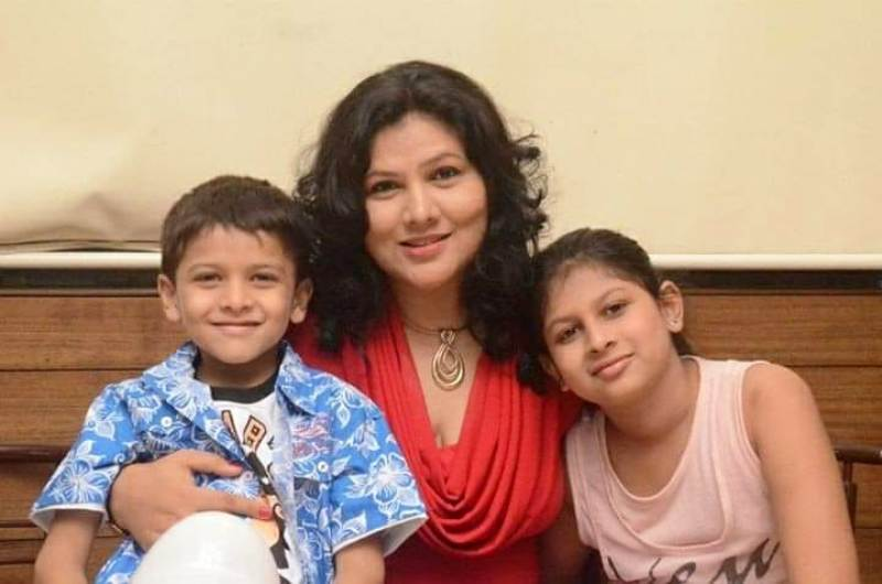 Pinky Parikh With Her Children