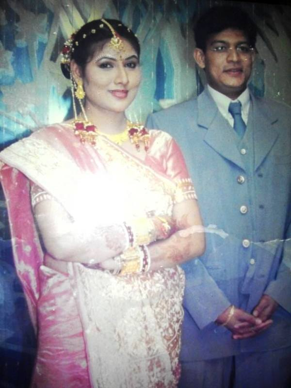 Pinky Parikh and Her Husband in a Function