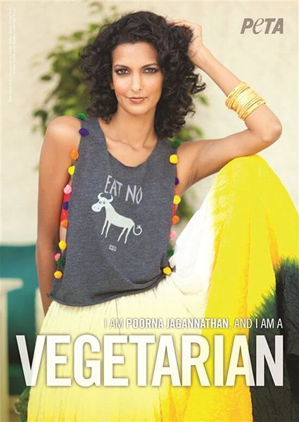 Poorna Jagannathan in an Advertisement for PETA