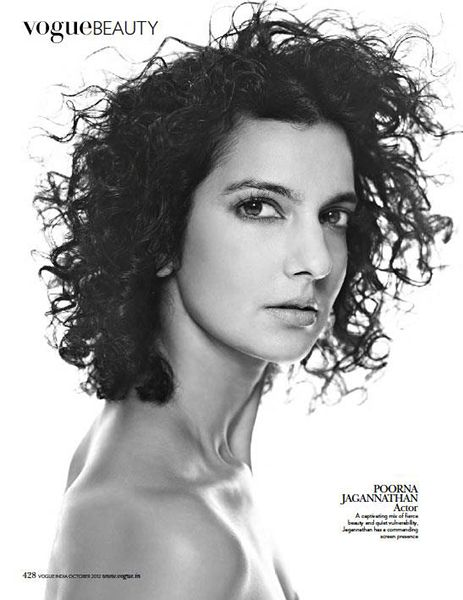 Poorna Jagannathan on the Cover of Vogue