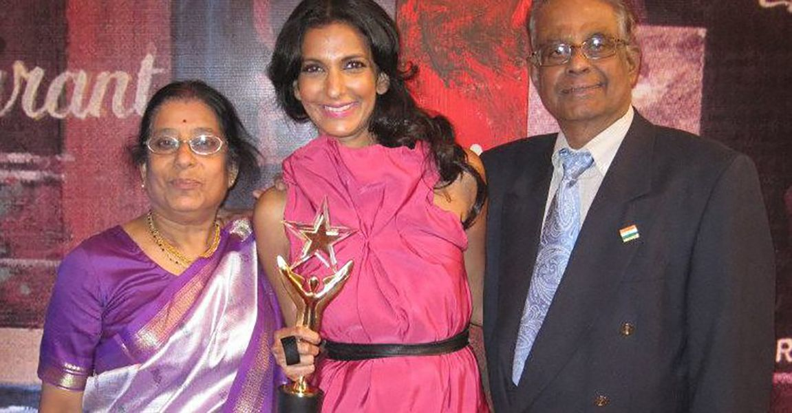 Poorna Jagannathan with her Parents