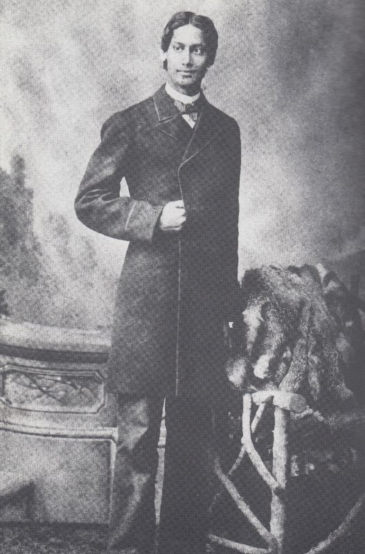 Rabindranath Tagore in England in 1879