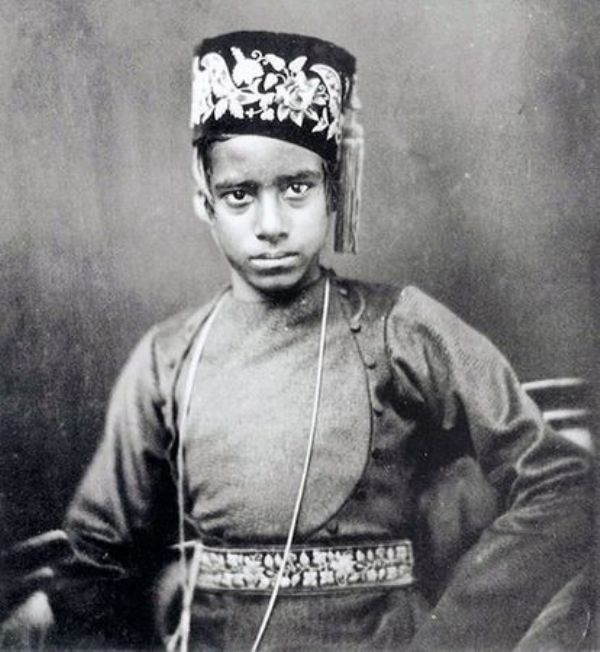 Rabindranath Tagore in his childhood