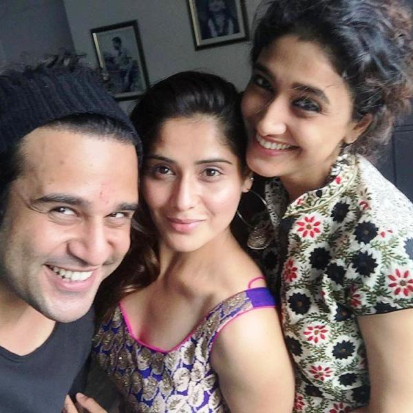 Ragini Khanna with Krushna and Aarti