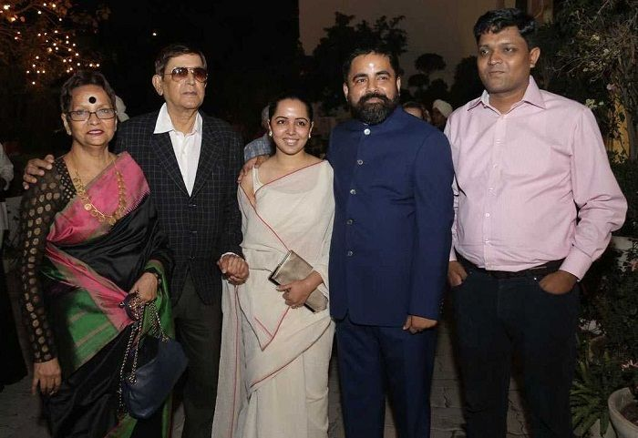 Sabyasachi Mukherjee with his family
