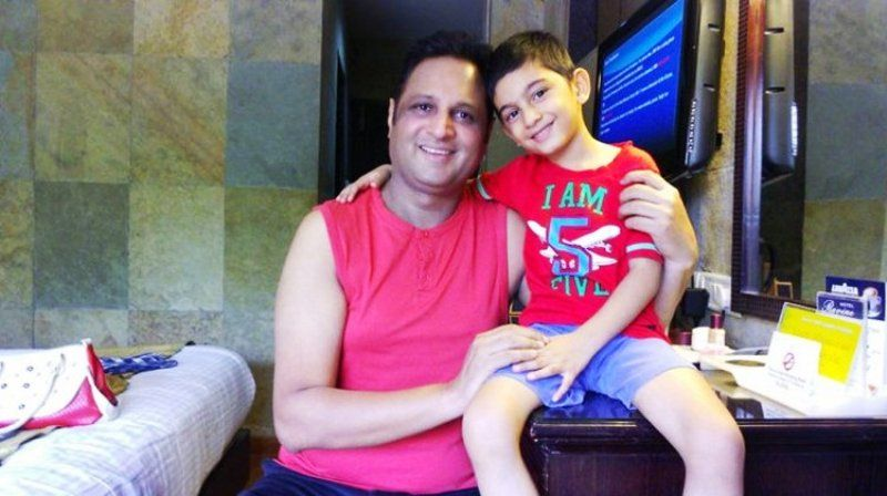 Sandeep Mohan With His Son