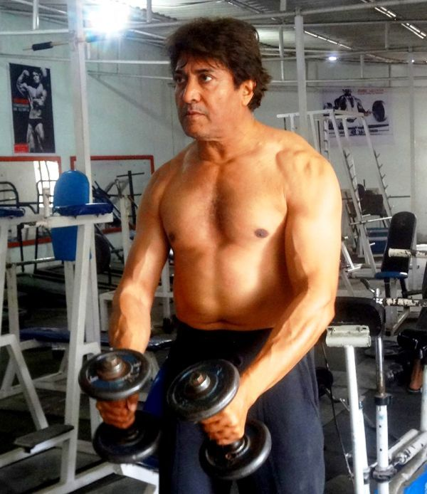 Sarvadaman Banerjee Doing the Workout in a Gym