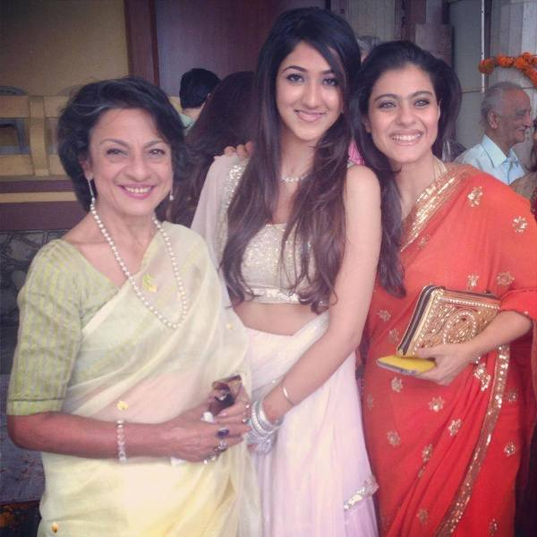 Sarvadaman D Banerjee's Bhabhi Tanuja (left), Daughter Aalika, and Niece Kajol