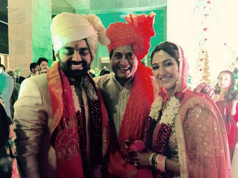 Sarvadaman D Banerjee With His Daughter Aalika and Son in law