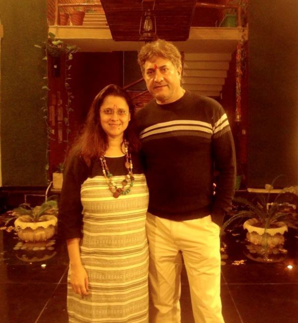 Sarvadaman D Banerjee With His Wife Alankrita Banerjee