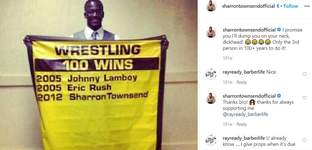 Sharron Townsend Talking About His Record Through an Instagram Post