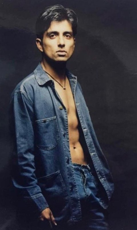 Sonu Sood in a photoshoot in 1997