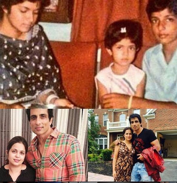 Sonu Sood with his sisters