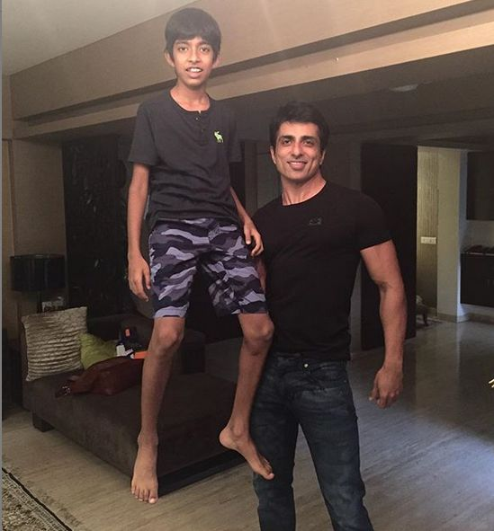Sonu Sood with his son, Eshaan Sood