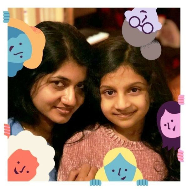 Souparnika Nair With Her Mother