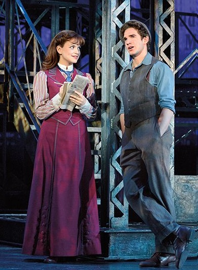 Stephanie in a Scene from the Musical, Newsies