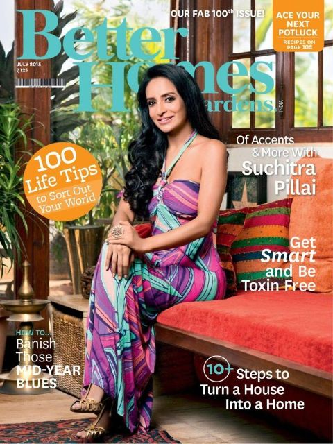 Suchitra Pillai on the cover of the Better Homes and Gardens Magazine