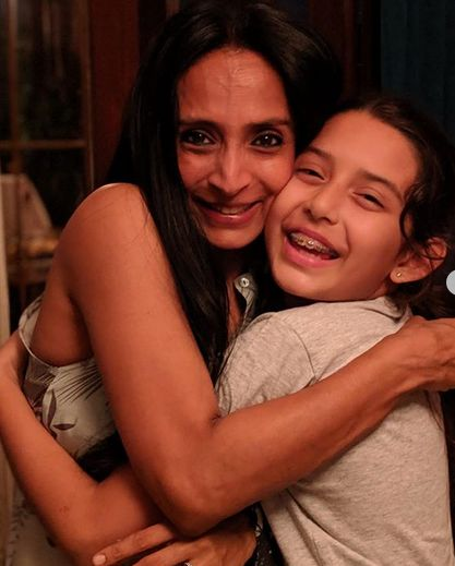 Suchitra Pillai with her daughter
