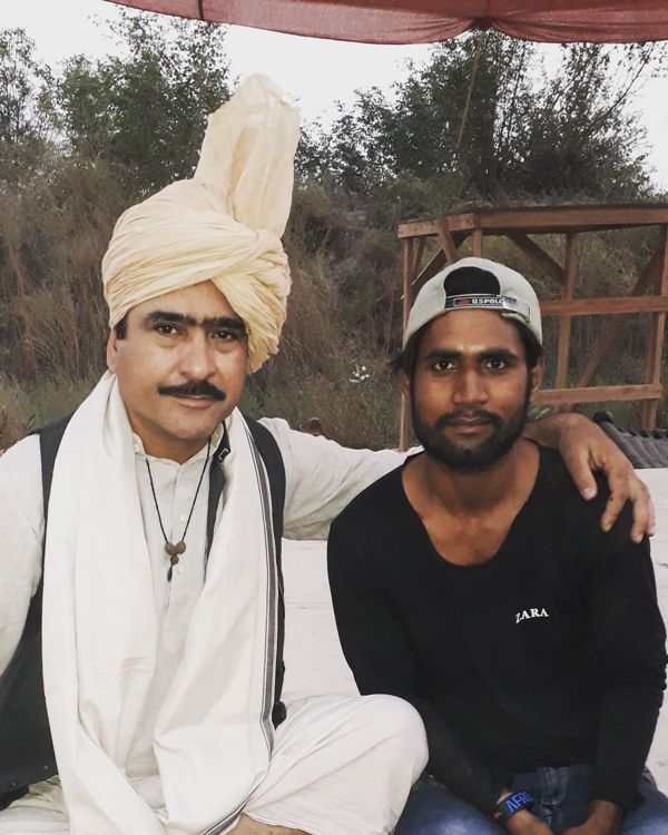Sunny Prajapati With Yashpal Sharma