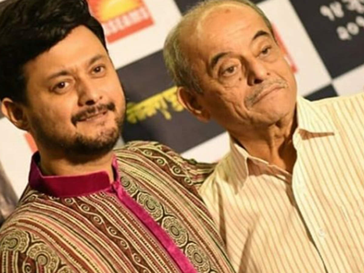 Swapnil Joshi with his father