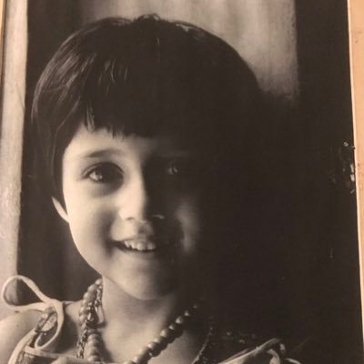 Swastika Mukherjee in childhood