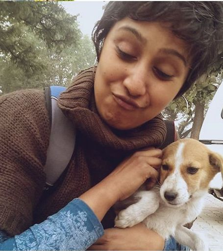 Swastika Mukherjee loves dogs
