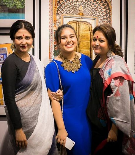 Swastika Mukherjee with her sister and her daughter