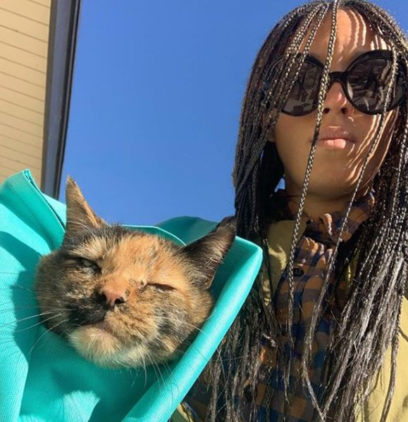 Tawny Newsome with her Cat