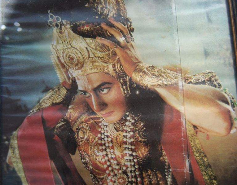 This picture of Sarvadaman D Banerjee was taken by an Italian Photographer during the shooting of Krishna