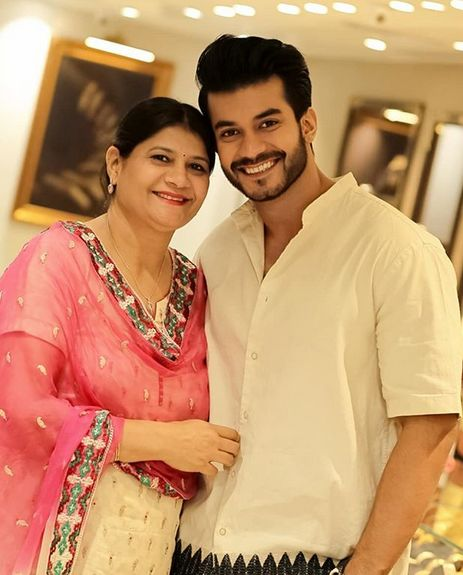 Varun Verma and his mother