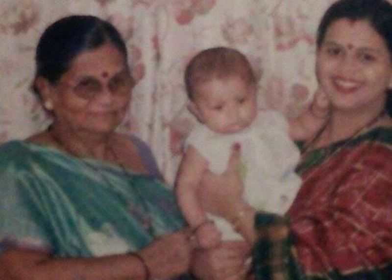 A Childhood Picture of Ritika Badiani With Her Mother and Grandmother