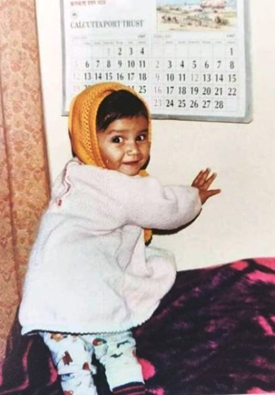 A Childhood Picture of Sauraseni Maitra